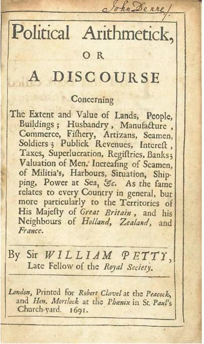 PETTY, William (1623-1687). Po
