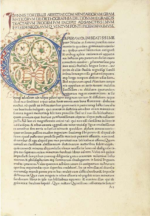 TORTELLIUS, Johannes (1400-146