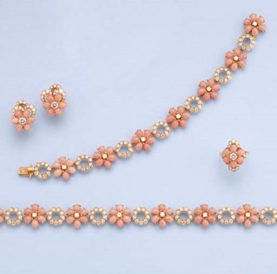 A SUITE OF DIAMOND AND CORAL J
