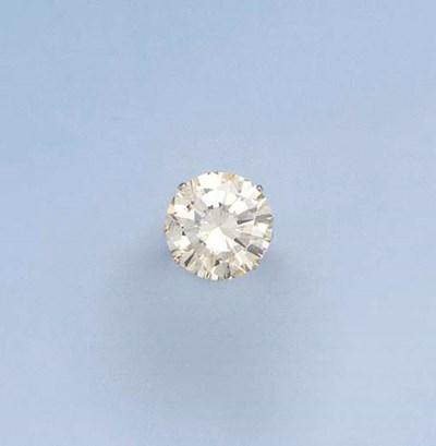 A LIGHT-YELLOW DIAMOND SINGLE-