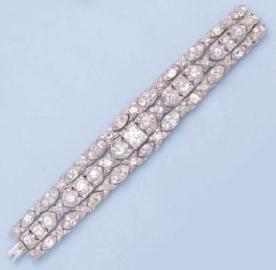 A FINE BELLE EPOQUE DIAMOND BR