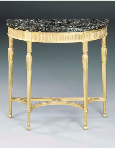 A GILTWOOD PIER TABLE