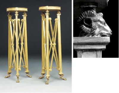 A PAIR OF GILTWOOD AND LACQUER