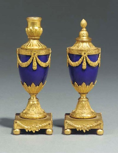 A PAIR OF GEORGE III ORMOLU AN