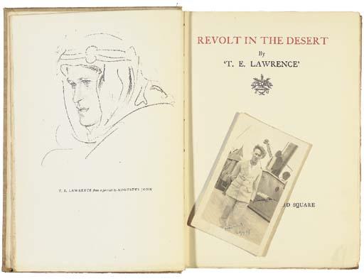 LAWRENCE, T.E. Autograph note