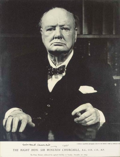 CHURCHILL, Sir W.L.S. Large po