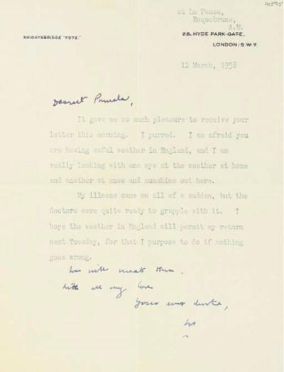 CHURCHILL, Sir W.L.S. Typed le