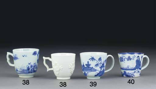 A BOW BLUE AND WHITE COFFEE-CU