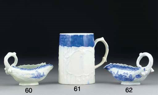 A WEST PANS BLUE AND WHITE MUG