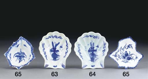 TWO DERBY BLUE AND WHITE LEAF-