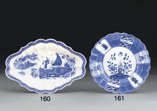 A CAUGHLEY BLUE AND WHITE LOZE