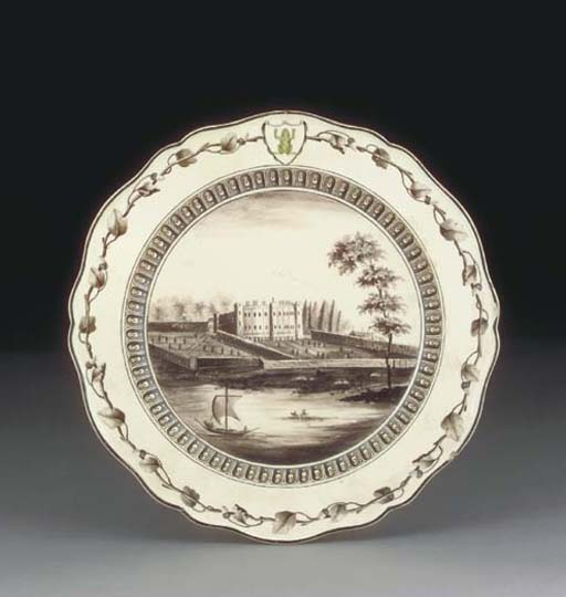 A WEDGWOOD AND BENTLEY PLATE F