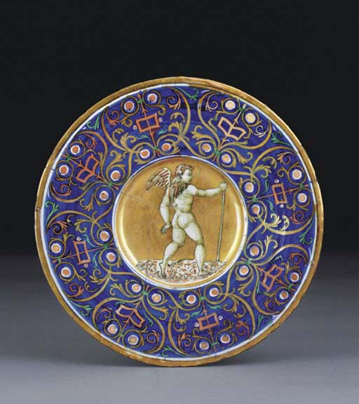 A GUBBIO LUSTRED PLATE