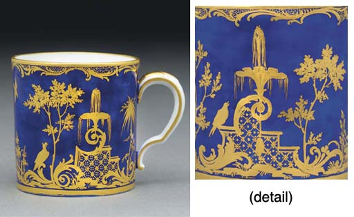 A SEVRES BLUE-GROUND COFFEE-CA