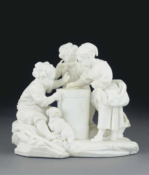 A SEVRES WHITE BISCUIT GROUP O