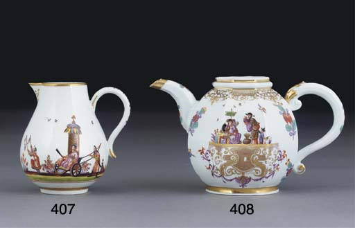 A MEISSEN PEAR-SHAPED CHINOISE