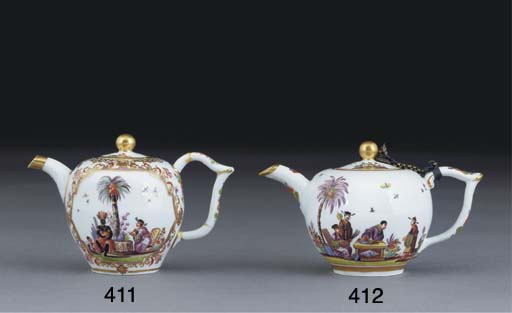 A MEISSEN SMALL BULLET-SHAPED