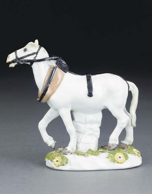 A MEISSEN MODEL OF A PACKHORSE