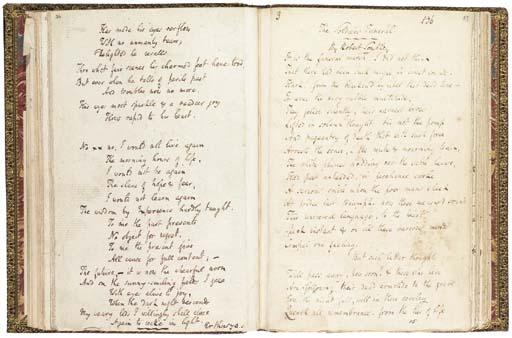SOUTHEY, Robert. Manuscript, p