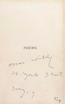 WILDE, Oscar. Poems. London: C