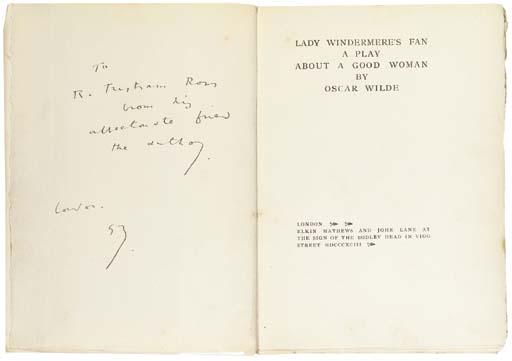 WILDE, Oscar. Lady Windermere'
