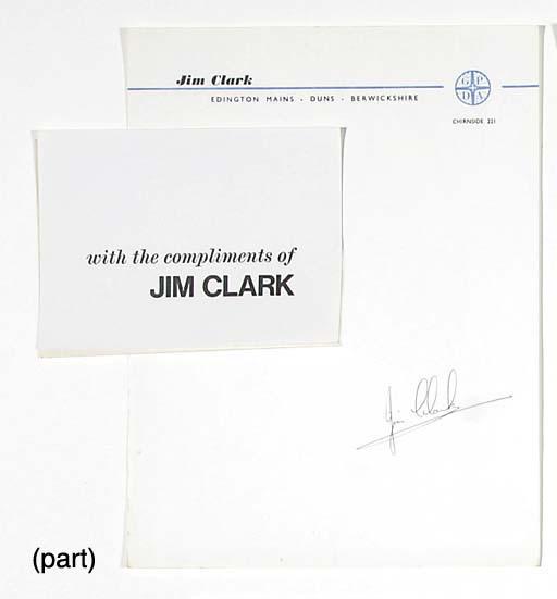 Jim Clark - A printed letterhe