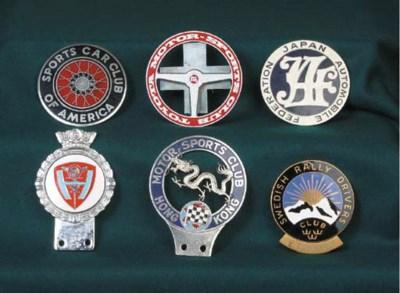 A group of Motor Club car badg