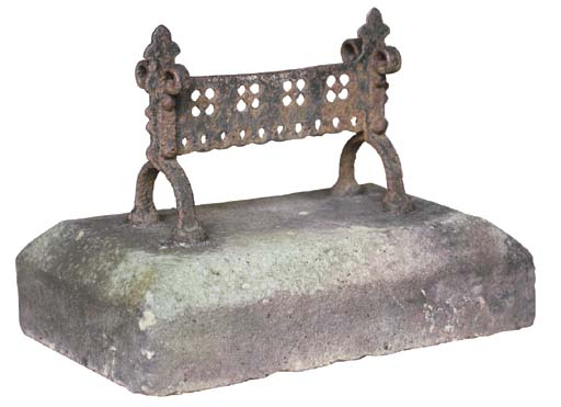 AN EARLY VICTORIAN IRON AND ST