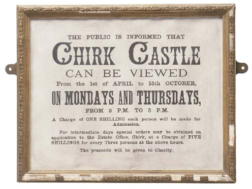 A CHIRK CASTLE OPENING HOURS D