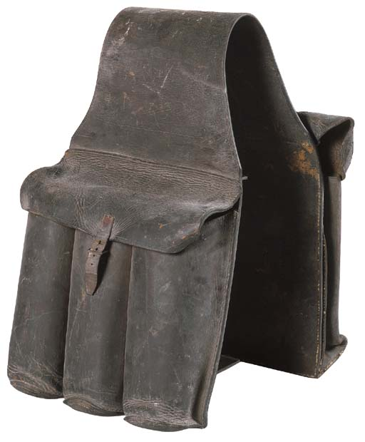 A LEATHER SADDLE BAG