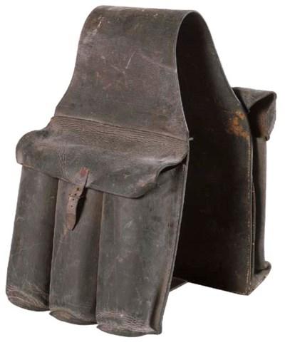 A LEATHER SADDLE BAG