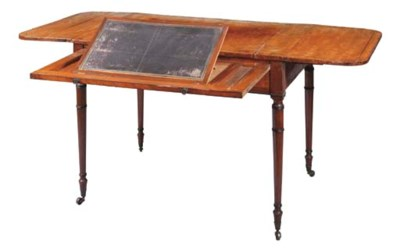 A REGENCY MAHOGANY DROP-LEAF W