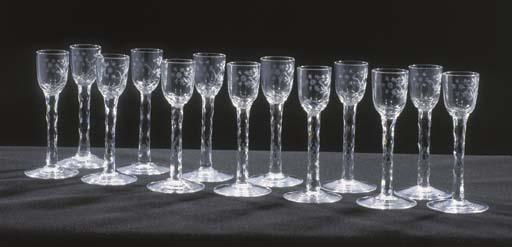 THIRTEEN CORDIAL-GLASSES