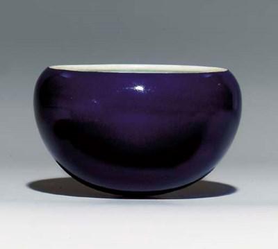 A BLUE-GLAZED 'ALMS' BOWL