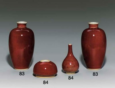 A RED-GLAZED WATER-POT; AND A