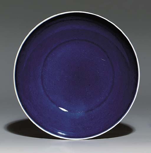 A BLUE-GLAZED DISH