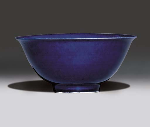 A BLUE-GLAZED BOWL