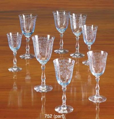 A FOSTORIA GLASS PART TABLE-SE