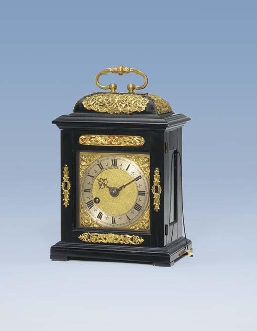 Thomas Tompion No. 51  A James II ebony miniature table timepiece with pull quarter repeat. Circa 1687