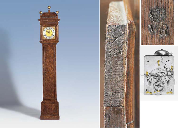 Thomas Tompion No. 365  A Queen Anne walnut month-going longcase clock.  Circa 1705