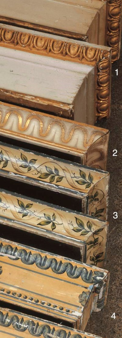 A REGENCY CREAM-PAINTED AND PA