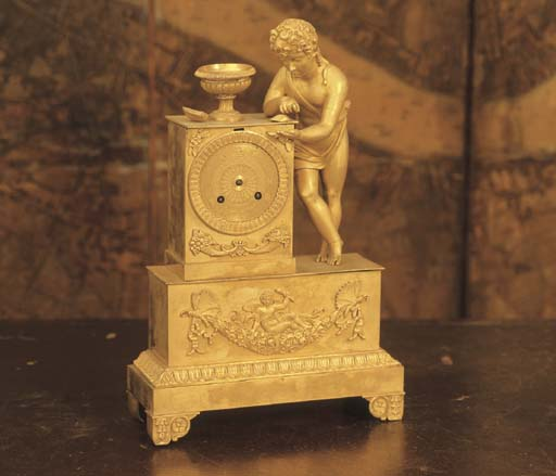 A CHARLES X GILT-METAL MANTEL