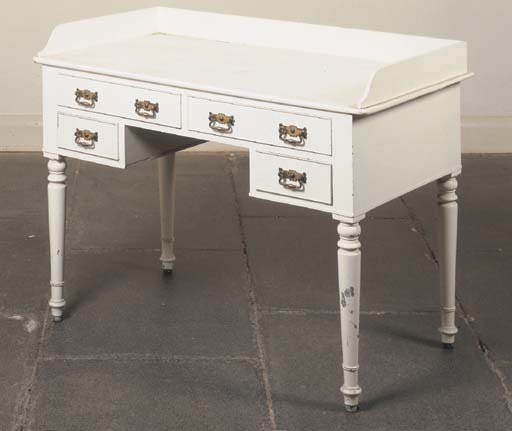 AN EARLY VICTORIAN WHITE-PAINT
