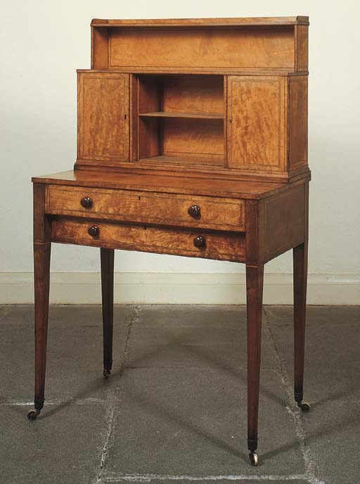 A GEORGE III SATINWOOD LINE IN