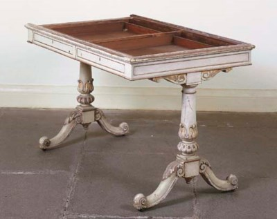 A GEORGE IV MAHOGANY AND LATER