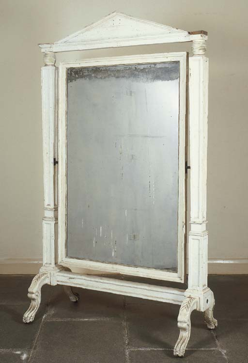 A LATE REGENCY WHITE-PAINTED C