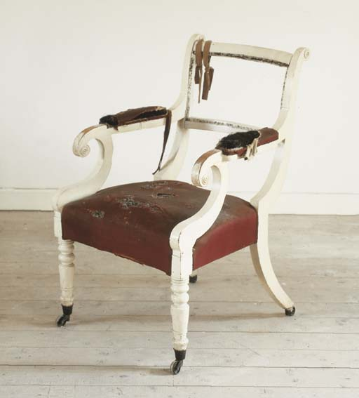 A REGENCY WHITE-PAINTED OPEN A