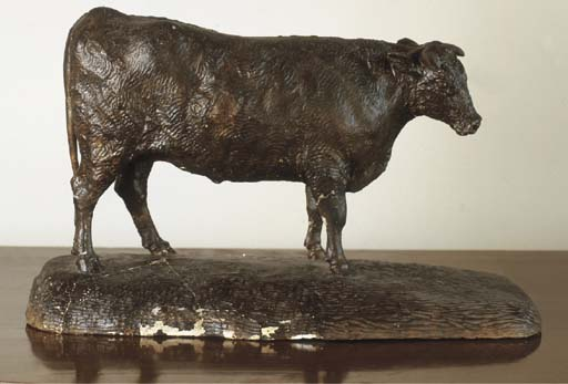 A GEORGE III BROWN-PATINATED P