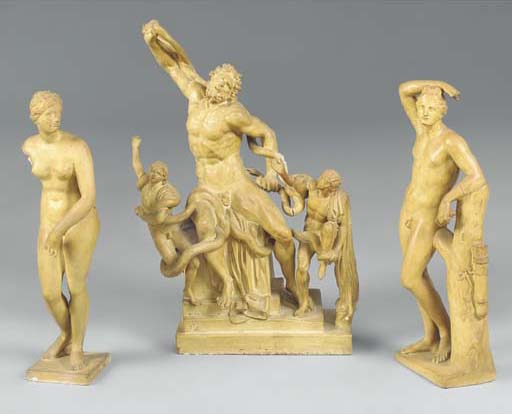 A PLASTER GROUP OF THE LAOCOON