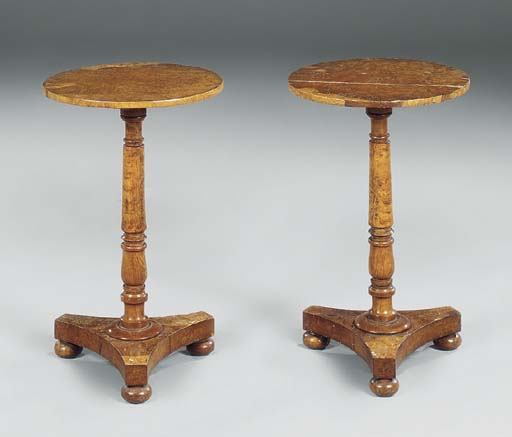 A PAIR OF REGENCY BROWN OAK CI